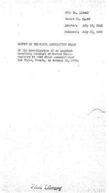 CAB Accident Report, TWA Flight 3 (January 1942).pdf