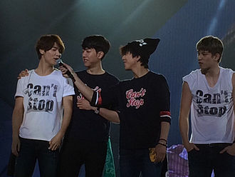 CNBLUE - CNBLUE during its Can't Stop concert tour in Nanjing, China, 2014