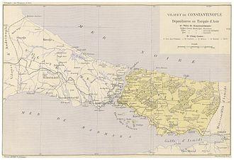 Constantinople Vilayet - Image: CUINET(1895) 4.615 Vilayet of Istanbul