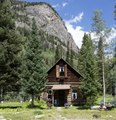 Cabin in Crystal, Colorado, a virtual ghost town in a valley on the upper Crystal River in Gunnison County, on a precipitous, a four-wheel-drive-only road between Marble and Crested Butte LCCN2015633741.tif