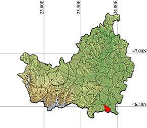 Localizarea comunei în județul Cluj