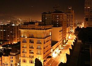 Nob Hill, San Francisco - California Street on Nob Hill