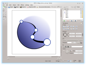 Karbon (software) - Image: Calligra Karbon 2.8 screenshot