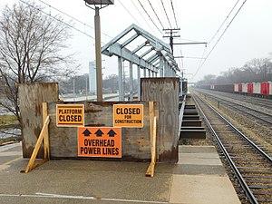 Calumet station (Illinois) - Calumet station platform reconstruction