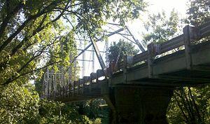 Deep River Camelback Truss Bridge - Camelback bridge, view from the south end, Aug. 2012