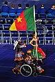 Cameroon paralympic flag bearer.jpg
