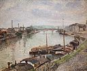 Camille Pissarro - The Stone Bridge and Barges at Rouen (1883).jpg