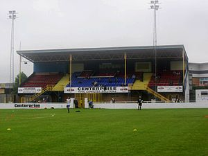 Basingstoke Town F.C. - The main stand at the Camrose.