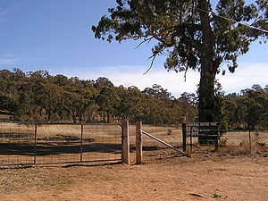Red Hill, Australian Capital Territory - Entrance to Red Hill reserve, part of the Canberra Nature Park