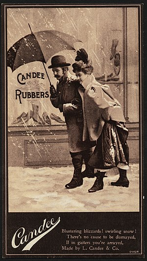 Leverett Candee - Trade card for Candee Rubber Co.