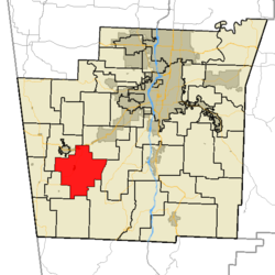 Cane Hill Township in Washington County, Arkansas