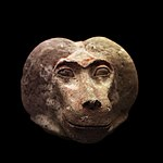 Canopic jar plug shaped as monkey head-MAHG 023460-IMG 1803-black.jpg