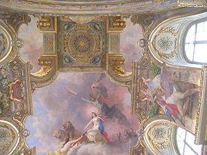 Mural - Ceiling painting, by Jean-André Rixens. Salle des Illustres, Le Capitole, Toulouse, France.
