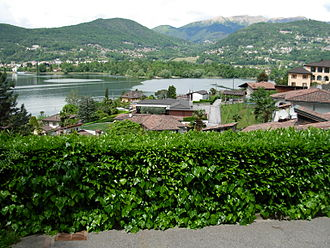 Carabietta - A part of the village and the lake of Lugano