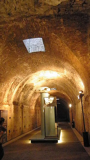 Baths of Caracalla - Subterranean tunnel with skylight