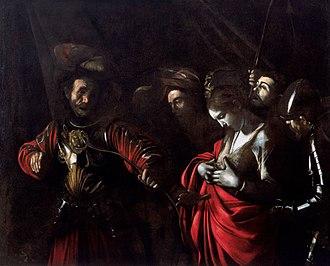 1610 in art - Image: Caravaggio Ursula