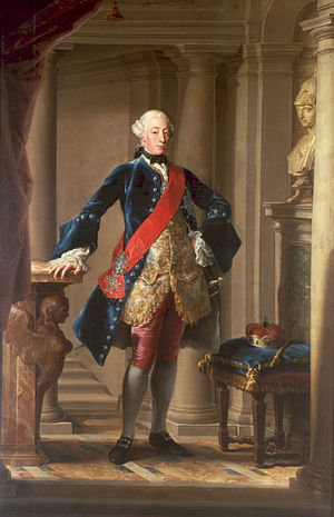 Charles Eugene, Duke of Württemberg - Carl Eugen, in a portrait by Pompeo Batoni