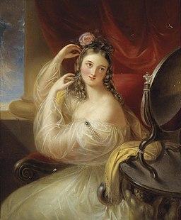 Carl Josef Alois Agricola Dame vor dem Toilettspiegel 1835