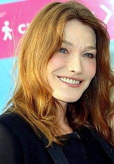 Italian-French singer, model and spouse of former president of France