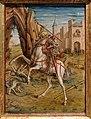 Carlo crivelli, madonna della rondine, post 1490, da s. francesco a matelica, predella 08 san giorgio e il drago 1.jpg