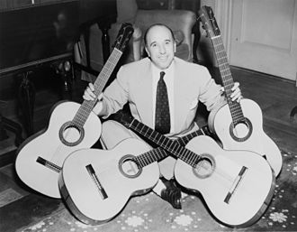 1954 in music - Flamenco guitarist Carlos Montoya in 1954