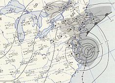 Surface weather analysis of Carol on August 31