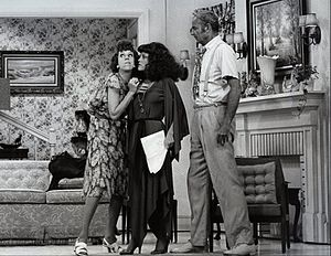 "Harvey Korman - Carol Burnett, guest star Madeline Kahn, and Harvey Korman in one of a series of ""The Family"" sketches on The Carol Burnett Show, 1976"