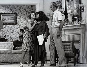 """Harvey Korman - Carol Burnett, guest star Madeline Kahn, and Harvey Korman in one of a series of """"The Family"""" sketches on The Carol Burnett Show, 1976"""