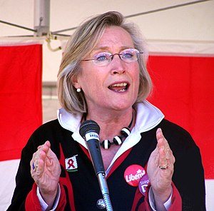 Minister of Crown-Indigenous Relations and Northern Affairs - Image: Carolyn Bennett at podium Crop