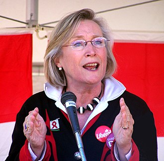 Carolyn Bennett - Image: Carolyn Bennett at podium Crop
