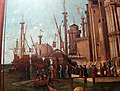 Carpaccio, storie di s.orsola 04, Incontro dei fidanzati e partenza dei pellegrini, 1495, 10.JPG