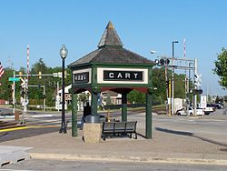 Cary sign near the train station