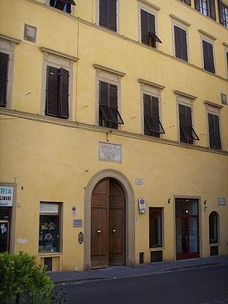 Casa Guidi - Image: Casa Guidi, esterno