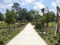Cascades Park (Tallahassee), Looking East at walkway from Meridian Gate.JPG