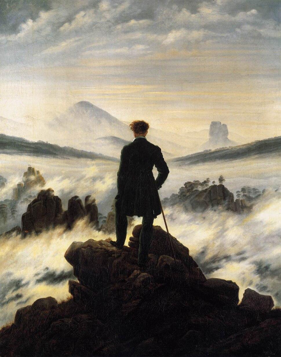 Caspar David Friedrich - Der Wanderer %C3%BCber dem Nebelmeer