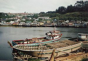 Castro, Chile - Wharf in Gamboa