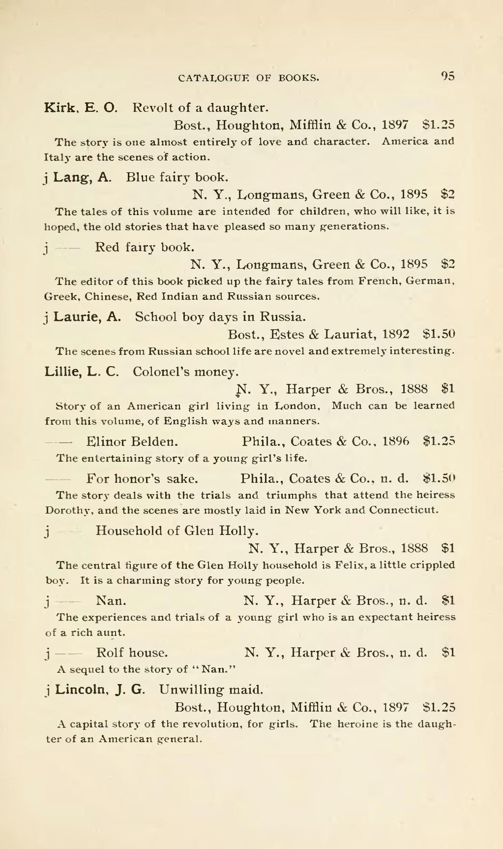 Page Catalogue Of Books Suitable For A Popular Library Djvu 107