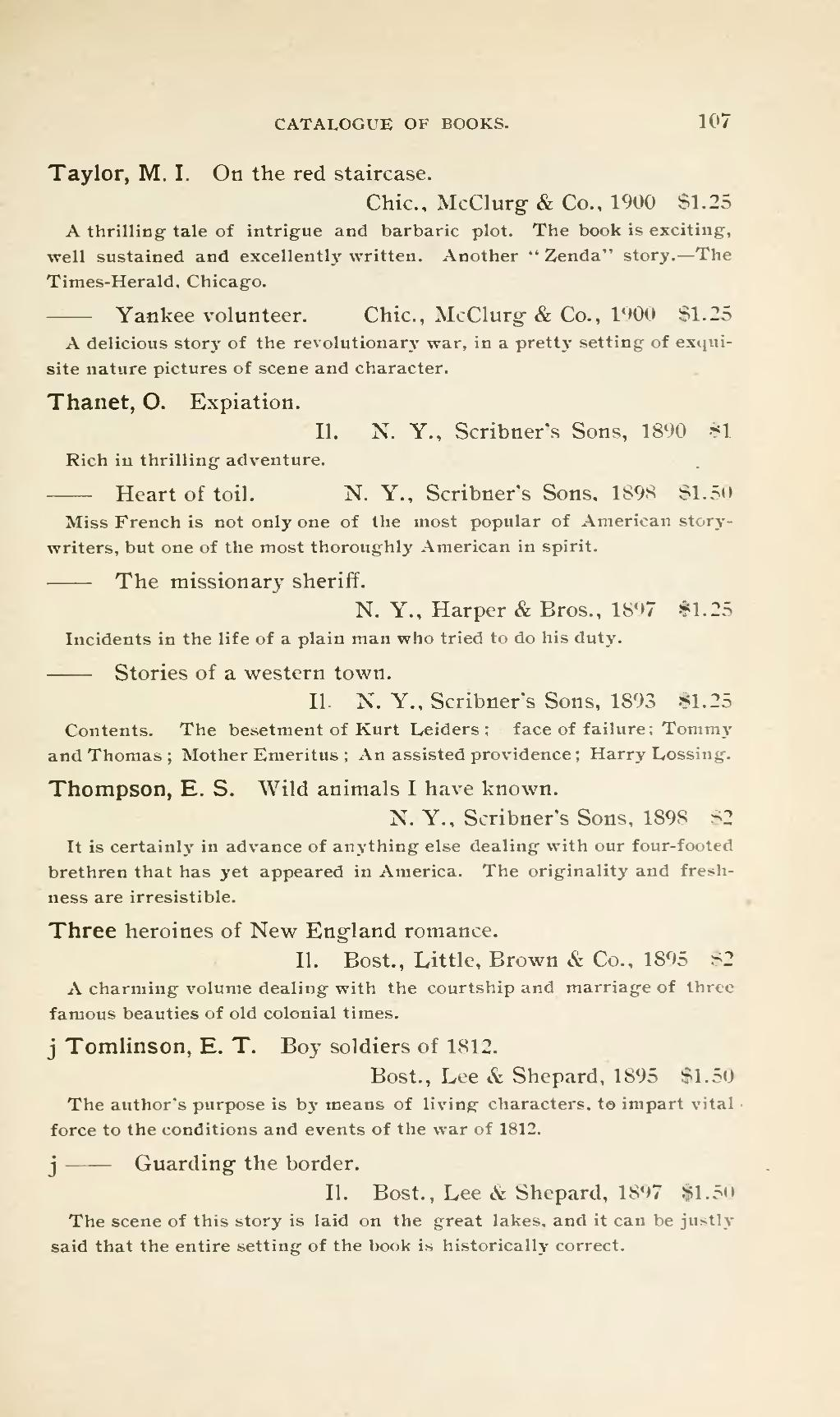 Page Catalogue Of Books Suitable For A Popular Library Djvu 119
