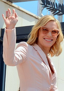 Blanchett at the 2018 Cannes Film Festival where she served as Jury President Cate Blanchett Cannes 2018.jpg