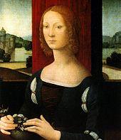 Caterina Sforza Riario, ritratta da Lorenzo di Credi.