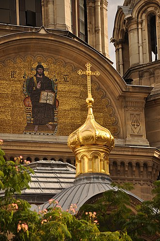 Alexander Nevsky Cathedral, Paris - Image: Cathedral Saint Alexandre Nevski in Paris 002