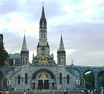 Cathedral in Lourdes Summer.jpg