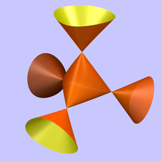 Cayley's nodal cubic surface - Real points of the Cayley surface