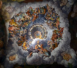 Ceiling of the Room of the giants in Palazzo Te, Mantua.jpg