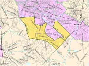 Pine Hill, New Jersey - Image: Census Bureau map of Pine Hill, New Jersey