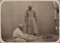 Central Asian Men's Clothing. Foot Wrapping WDL10761.png