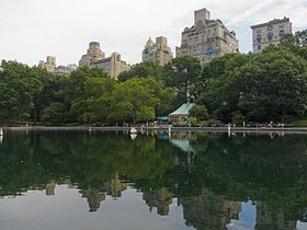 Immeubles de l'Upper East Side vus de Central Park