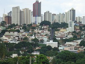 Uberlândia - Downtown Uberlandia in mid-November 2011