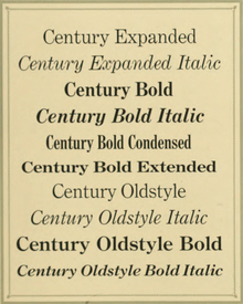 Century type family - Wikipedia