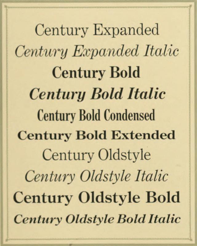 Century type family - Wikiwand